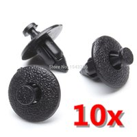 Wholesale 10x Interior Plastic Rivet Fastener Clips Trim Fascias mm Hole Push Black For Volvo small order no tracking