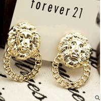 alternative siding - 2015 fashion jewelry double sided studs earrings for women piercings crystal Korean fashion jewelry earrings alternative trend of street bea