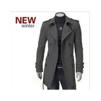 Wholesale Fall Winter cotton windbreaker new fashion man wool coat winter jackets windbreaker overcoat