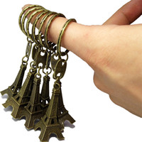 eiffel tower - Fashion Lover Eiffel Tower Keychains Popular Retro Bronze Lover Keychains cm Total Length Metal Material Hot Sale T cm