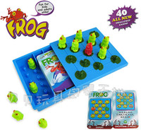 Wholesale 40 question cards years old children s educational toys frog checkers board game Chess Games training in logical thinking