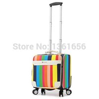 Wholesale 16 Inch PU Carry Ons Luggage Luggage Travel Suitcase Rolling Luggage Check In Luggage kg CA008 A3
