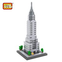architecture usa - LOZ Chrysler Building Building Blocks World Famous Architecture Mini Bricks DIY Toys Present Gift USA