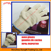 Wholesale Heat Resistant Oven Mitts Kitchen Anti hot Outdoor Barbecue Hot Surface Protector Glove order lt no track