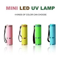 Wholesale Portable Mini LED Flashlight Nail Dryer UV Lamp for Nail Gel Fast Dryer Cure Colors for Choice Nail Gel Tool