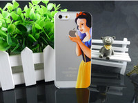 Wholesale Grind Arenaceous Cases For Apple iphone S Case For iPhone4S Shell Snow White Anna Mermaid Ariel Cinderella Girl Cover