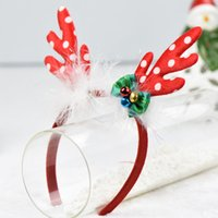 Wholesale Adult Kids Cute Christmas Reindeer Antler Headband Ornament Headwear