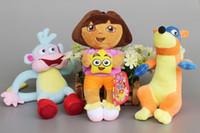 game dora - Cartoon Dora the Explorer Plush Toys Boots Monkey Swiper Fox Dora Plush Doll Soft Stuffed Toy set