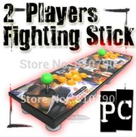 arcade fight sticks - Players Fighting Stick Arcade Game Joystick PC Buttons Street Fighter GIFT green lengthened stick mm SL A6A