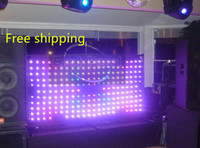 animations remote - A1209 set x2m led vision curtain pitch9cm soft screen DMX remote SD text images animation dj booth shows motion drape wedding backdrops
