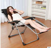 Wholesale The supply of luxury lounge black gray two white collar outdoor chairs suitable for pregnant women Folding chair