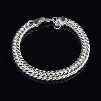 Wholesale 2015 HOT Fashion Men s Sterling Silver mm Curb Chain Link Bracelet quot D0081
