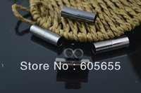 Wholesale 4mm Black Gun Metal Tube Shape Magnetic Clasps for Leather Cord Bracelets Making Jewelry Findings pc