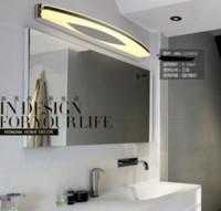 art deco bathroom designs - New design AC110 V High Quality W LED Wall Lights Stainless Steel Wall Lamp Bathroom Bedroom Mirror Lights