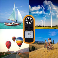 Wholesale 1pcs Useful Portable Auto power off Sailing Surfing Digital LCD Instruments Anemometer Wind Speed Velocity Meter Travle