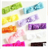 Wholesale 2 styles new hot sell happiness knot lace elastic hair ties hair rope bowknot knotted hairband Hand rope l065