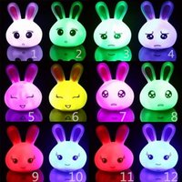 Wholesale LED Nightlight Children Nightlight Fashion Kids Cute Rabbit Expression and LED Nightlight Hot Baby Lovely Safety and More Color Nightlight