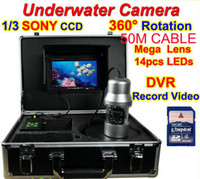 Wholesale 50m cable TVL Professional Underwater fishing Camera kit for fish finder waterproof video camera fishing equipment device
