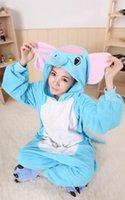 adult romper suit - Blue Elephants Animal Costume Kigurumi Pajamas Cosplay Halloween Suits Adult Romper Cartoon Jumpsuits Unisex Animal Sleepwear