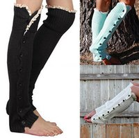 army boots for women fashion - Hot Lace Trim Flat Cuffs Button Down Knee High Boot Socks Winter Boot Socks Long Warm Socks Knit Leg Warmer for Christmas