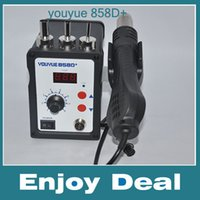 Cheap Freeshipping 700W Hot Air Gun Youyue 858D+ ESD Soldering Station LED Digital Desoldering Station Upgrade from 858D