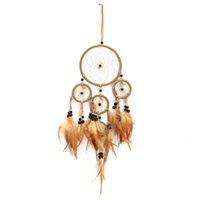 Wholesale Fashion Indian Style Feather Dreamcatcher Folk Art Wind Chimes For Home Garden Wall Hanging Decor Supplies