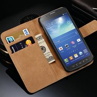 galaxy s4 active - Vintage Wallet Stand Genuine Leather Case for Samsung Galaxy S4 Active i9295 Leather Cover with Card Holder