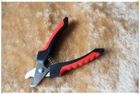 Wholesale High quality Brand new Red Pet Dog Cat Toe Care Nail Clippers Scissors