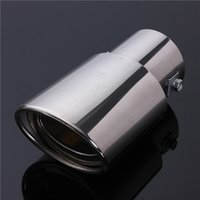 Wholesale Universal Chrome Stainless Steel Car Rear Round Exhaust Pipe Tail Muffler Tip uk New