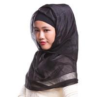 Wholesale Muslim Hijab Scarf Colorful Rectangular Turkey Islamic Women s Scarf With Imitation Silk For Sale