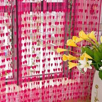 Wholesale 12color Details about Window Room Divider Curtain Valance Heart Line Tassel String Door Curtain New DHL
