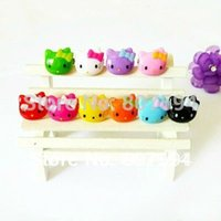 baby boys jewellery - 50Ps Acrylic crystal resizable Rings baby finger ring lovely hello kitty rings fashion jewelry jewellery JR15
