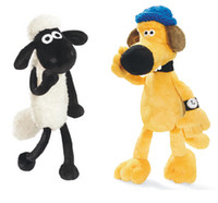 art puppets - Little sheep and the dog plush toy doll cloth art class The new puppet doll gifts children s day gift