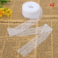 Wholesale 10 Yard Embroidered Net Lace Trim Ribbon White Color Inches wide