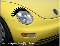 Wholesale VW beetle black Eyelashes headlight car eyelash volkswagen light decal new