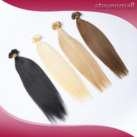 handmade product - Handmade V tip Clip In Hair Extensions Brazilian Malaysian Peruvian Indian Virgin Hair A Human Hairs Hair Products