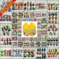 Wholesale DHL EMS Random Minions Elsa Kitty Minckey Inside Out Pony Avengers Crafts PVC Shoe Charms Fit Clog pvc Shoe Accessories Kids Gifts