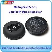 Wholesale DHL new Wireless Bluetooth Receiver Audio Stereo Multi point in Bluetooth Music Receiver