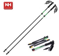 Wholesale outdoor Specialty Exterior locking Aluminum Alloy Alpenstock Ultra light Sponge Handle five Festival Folded Canes Trekking Poles