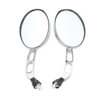 Wholesale 10mm Universal Pair Motorcycle Motorbike Chrome Rear View Mirrors Silver Universal Motor Side Mirrors