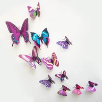 wall magnetic - Cute D Wall Sticker PVC Butterfly Pattern Magnetic Sticker Home Decoration Room DIY Ornament ZYQ1