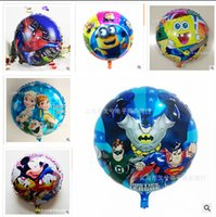 inflatables - Superman Frozen Elsa Anna balloons for party Helium shaped cartoon foil minions balloons Inflatable toys Party Decoration style Rg374