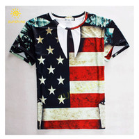 american flag shirts womens - High quality d print size casual T shirt American flag the Stars and Stripes silk slippery cool mens womens unisex tshirt