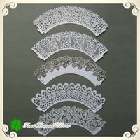 Wholesale Famous Design Cupcake wrappers Lace Cupcake wrappers Laser cut cupcake wrappers