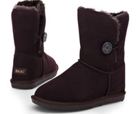 Wholesale High Quality BGG Women s Boots Womens short Leather boots Boot Snow boots Winter boots With certificate dust bag US size