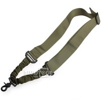 Wholesale Army Green clolor Tactical Adjustable Single Point Sling System Rifle Gun Bungee Strap Cord Hook