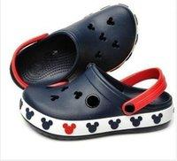 garden clogs shoes - 2014 summer hole Children Brand Cartoon Garden Shoes Mickey Clog Sandal Slippers baby girls and boys beach slides