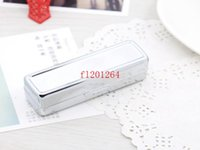 Wholesale Hot sale Blank Metal Lipstick Box Lip Cases Holder Inside with Mirror