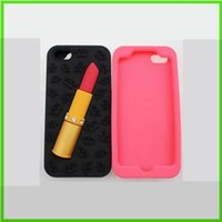 lipstick case - Lipstick Case For iphone plus S S Samsung Galaxy S4 S5 S6 Note3 Luxury Soft Silicon Cell Phone Cases New Arrival