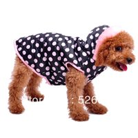 Оптово-розовый точка теплая одежда одежды одежды любимчика одежды собаки плюшевого VIP chigoes осень и зиму